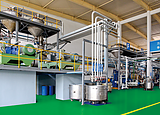 Closed system of sealant mixing line