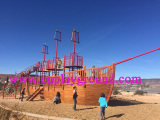 Large Wooden Pirate Ship Playground Equipment For America Customer