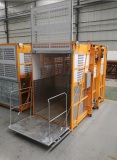 Rack and pinion elevator with ramp door