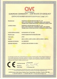 CE certificate of PVC INSULATED WIRE