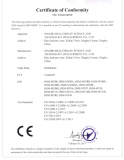 MT08 SERIES CE Certification