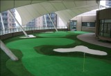 Mini Golf court on the top of the building