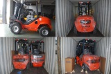 Rough Terrain,Battery and Diesel Forklift in one 40FT container shipped to Spain