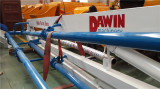 DAWIN 17m mobile spider concrete placing boom shipping to U.S.