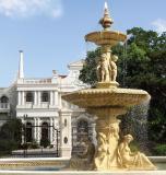 Sandstone Square fountain with audio