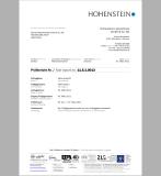 Hohenstein Test Report of UPF