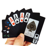 100% New Black Plastic POKER Playing Cards/PVC Playing Cards