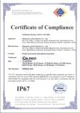 IP67 certificate