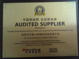 Audited supplier by made-in-china in 2012