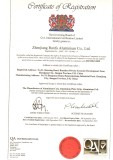 ISO9001:2008 for aluminium products