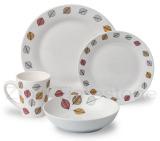 16pc Porcelain Decaled Dinner Set
