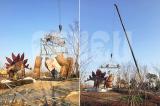 The Giant Stegosaurus on-site Installation