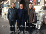 Mineral ores processing line machinery