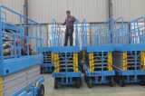 India customer visit our factory for distributing our scissor lift