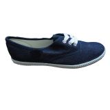 Low-Cut Canvas Shoes with Denim Material for Children/Women/Men