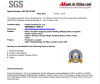 SGS quanlity certification