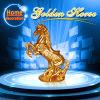 Golden Horse Style Sandstone Sculpture Statue for Garden Decorations