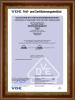Holland plug insert VDE Certificate