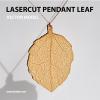 wooden lasercut pendant leaf