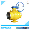 Welding eccentric ball valve with gear worm