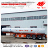 QI LIN 38000 liters Stainless steel fuel tank semi trailer export to Mombasa