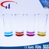 230ml Colorful Bottom Glass Water Cup (CHM8022)