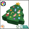 Christmas Tree Shape Rigid Cardboard Gift Paper Box with Lid