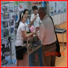Discussing Products with Guangzhou Fair Customer
