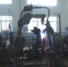 Robot welding production line