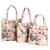 Waterproof PVC Retro Floral Shopping Bags