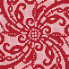 Art Mosaic Pattern-Embroidery Red