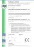 Granulator CE Examination Certificate