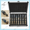 8PC HSS Cobalt Silver & Deming Drill Bits Set