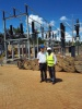 Site visit for OPGW cable installation in Africa