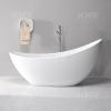 KKR modern design solid surface bath , stone resin bathtub
