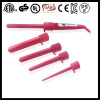 5P Pink Clip-free Hair Curling Iron wand
