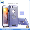 TPU and Hard Plastic Hybrid Mobile Phone Case Cover with Ring Holder for iPhone and Samsung
