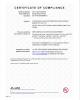 UL-Certificate of Compliance