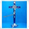Height St. Benedict's Stand Metal Crucifix / Standing Metal Crucifix