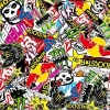 Tsautop new arrival 0.5m width bomb sticker hydro dipping transfer film