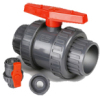 PVC Double Union Ball Valve DIN ANSI JIS BS Standard DN15 ( 1/2