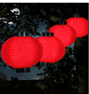 Pure Garden Outdoor LED Chinese Lanterns