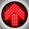 200mm Fresnel Lens Red Arrow Traffic Light Module