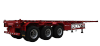 3 axle Container Trailer, Flatbed Semi Trailer