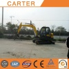 Australian clients visit Carter CT65 mini excavator