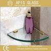 Tempered Bathroom Glass Shelf with Polished Edge