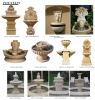 Garden Outdoor Square Sandstone Sculpture Fountain