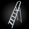 5 step squre tube folding lightweight aluminum ladder with safe hand rail