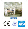 Dividing and cutting line for poultry slaughtering