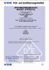 VDE Certificate for temperature sensing and temperature control